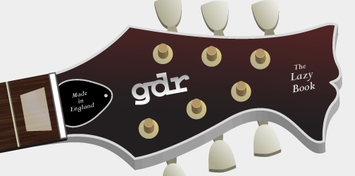 '3D' visual of the Guitar Design Reviews headstock v5