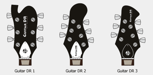 Guitar Design Reviews, new headstock designs 1-3