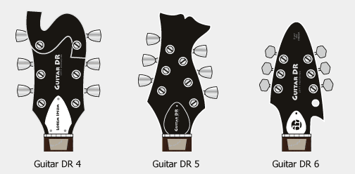 Guitar Design Reviews, new headstock designs 4-6