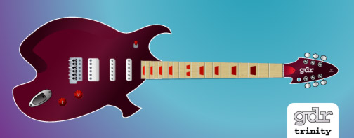 Trinity Guitar, paired with proposed Headstock v6