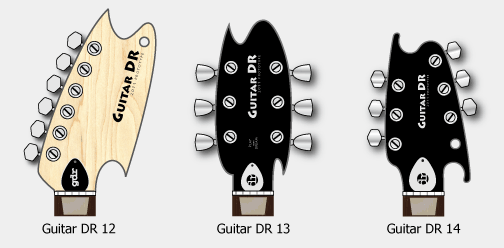 Guitar Headstock Designs, GDR12, 13 and 14