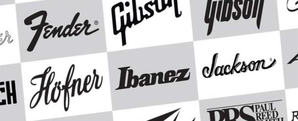 30 Guitar Company Logos, downloadable Vector PDF