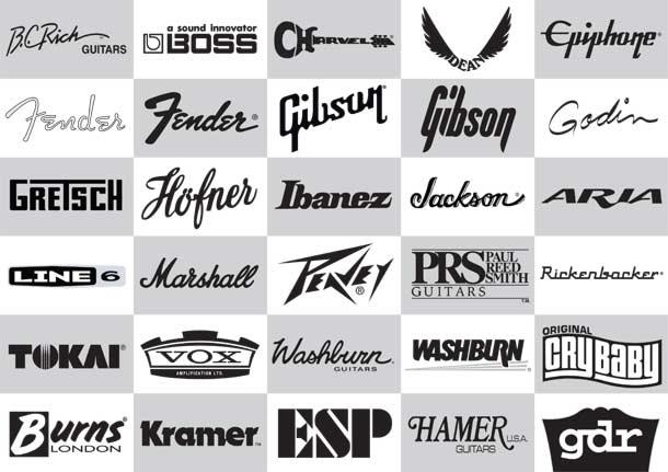 30 Guitar Logos