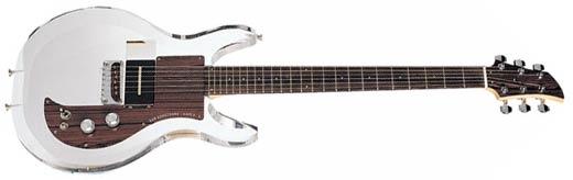 A perspex guitar