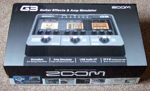 Zoom G3, the box