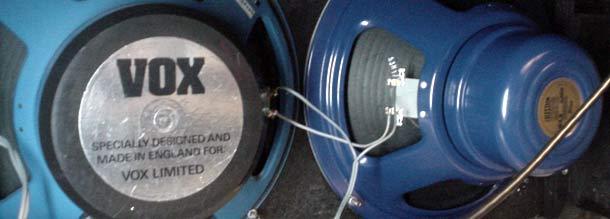 "Vox ""blue"" speakers"