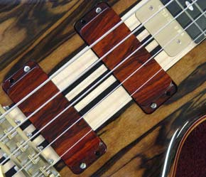 Alembic wood covered pickups