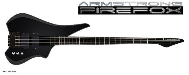 Fire Fox bass guitar