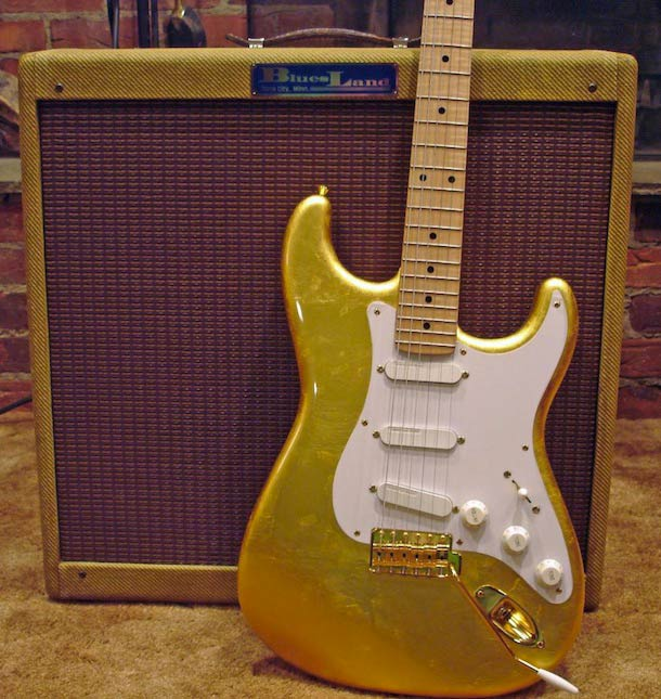 Fender Stratocaster with gold leaf finish