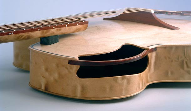 Parker archtop, not flat, and the hole's not in the middle
